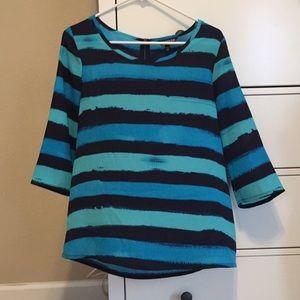 NWOT Express Women's Blouse Stripes Size Medium